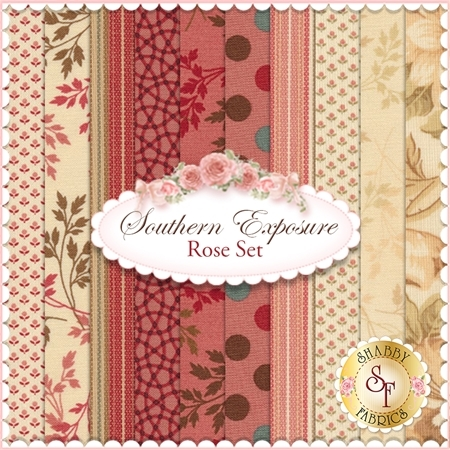 Southern Exposure  10 FQ Set - Rose Set by Laundry Basket Quilts for Moda Fabrics