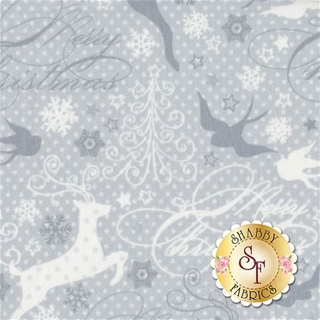 Sparkle 42377M-3 Silver by Whistler Studios for Windham Fabrics