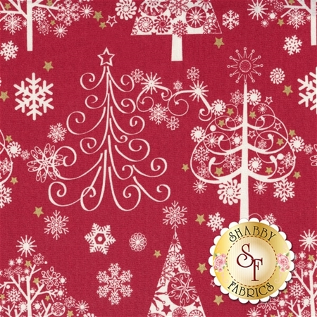 Sparkle 42381M-1 Red by Whistler Studios for Windham Fabrics
