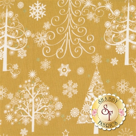 Sparkle 42381M-2 Gold by Whistler Studios for Windham Fabrics