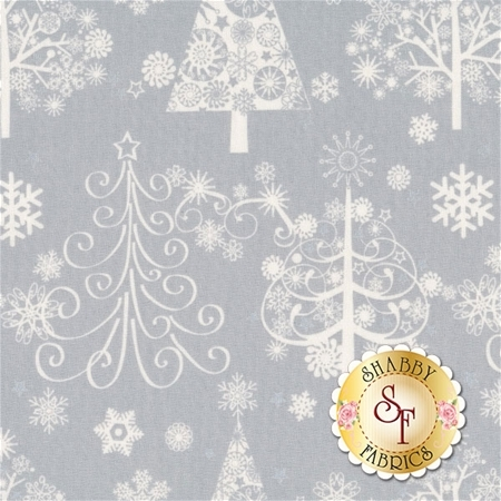 Sparkle 42381M-3 SIlver by Whistler Studios for Windham Fabrics