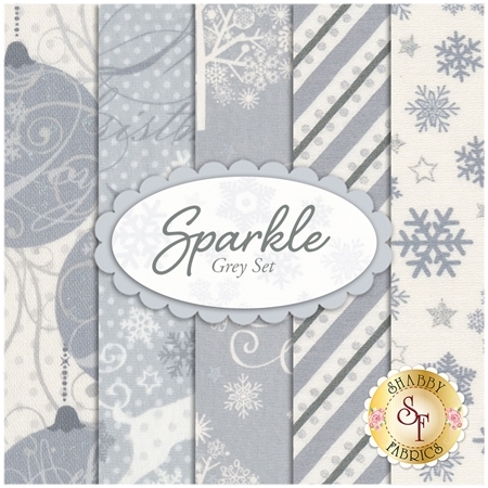Sparkle  5 FQ Set - Grey Set by Windham Fabrics