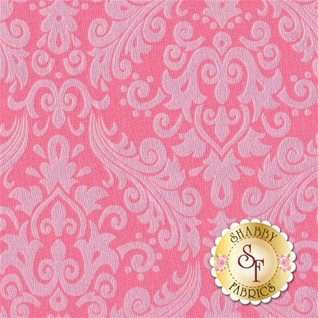 Sparkle SC830-70 Hot Pink Damask by Riley Blake Designs
