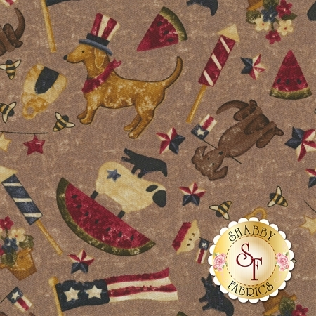 Spirit Of America 8869-39 by Stacy West for Henry Glass Fabrics