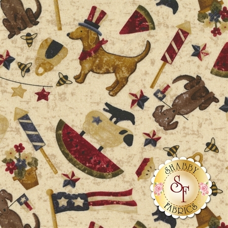 Spirit Of America 8869-44 by Stacy West for Henry Glass Fabrics