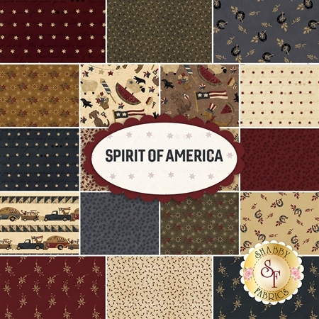 Spirit Of America  Cotton Yardage by Stacy West for Henry Glass Fabrics