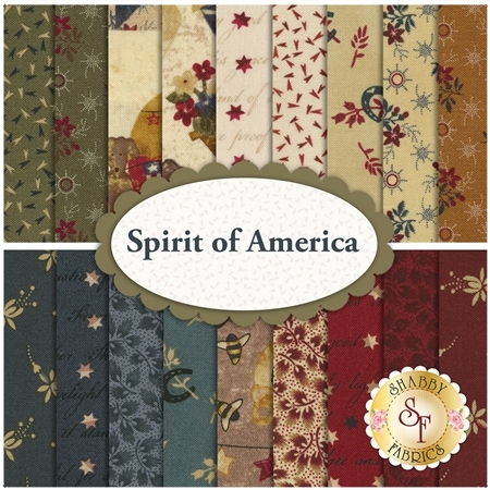 Spirit Of America  18 FQ Set by Stacy West for Henry Glass Fabrics