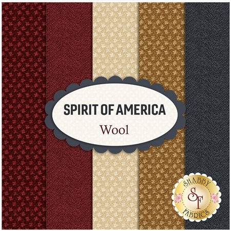 Spirit Of America  Wool Yardage by Stacy West for Henry Glass Fabrics