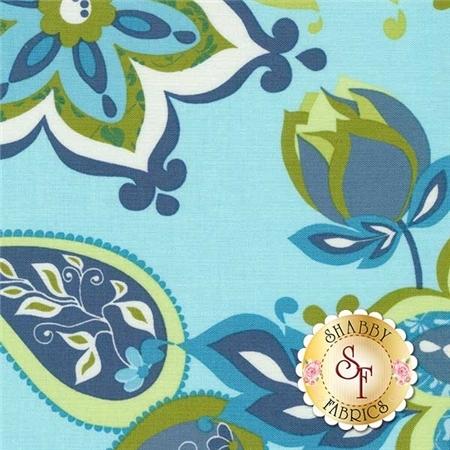 Splendor C3910-Blue By Lila Tueller for Riley Blake Designs
