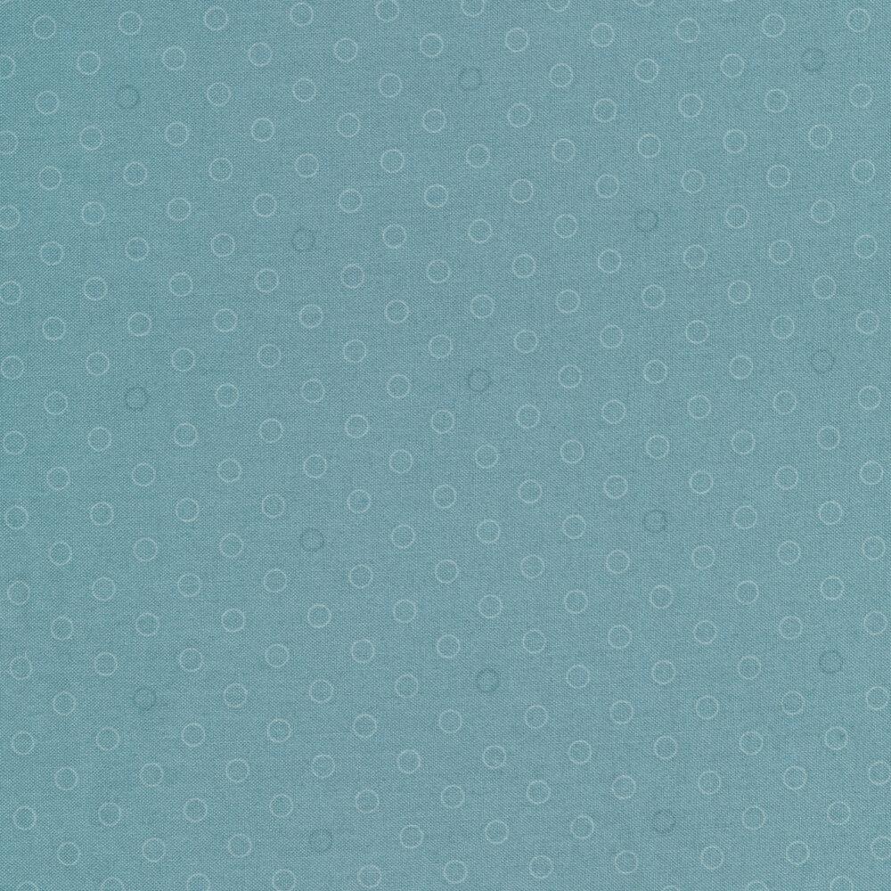A basic blue tonal polka dot print | Shabby Fabrics