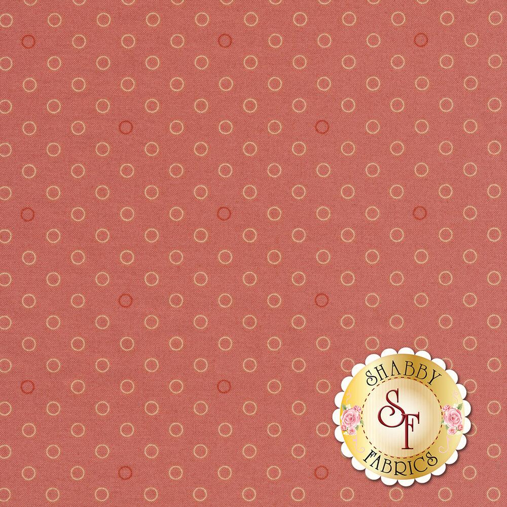 A basic coral tonal polka dot print | Shabby Fabrics
