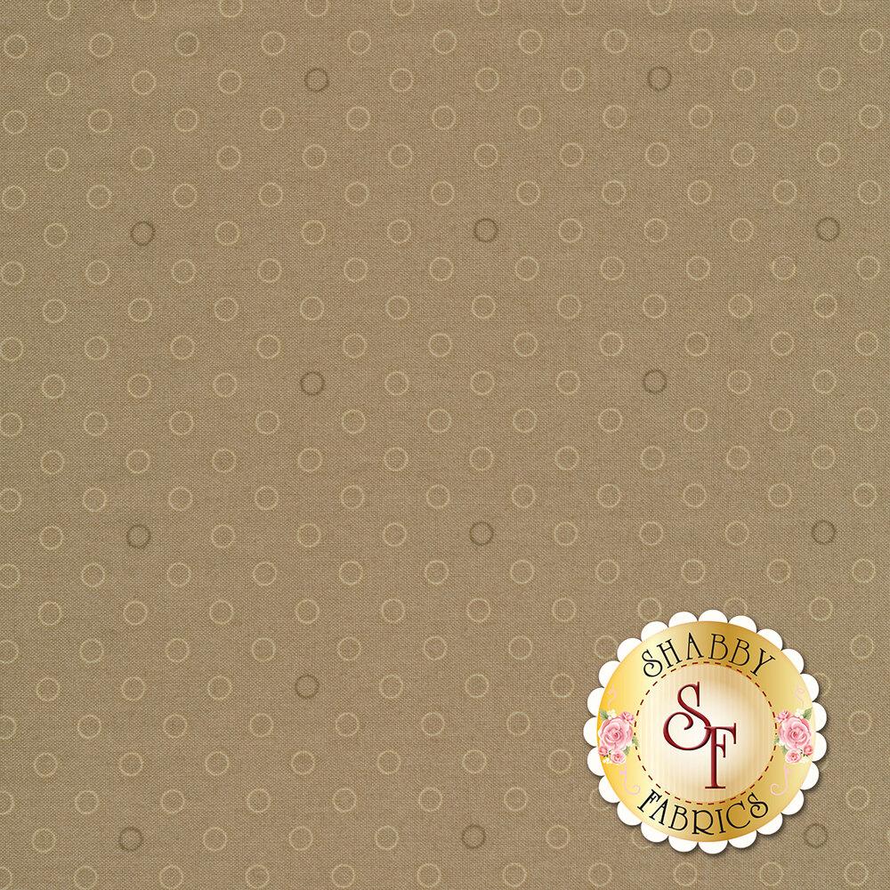 A basic tan tonal polka dot fabric | Shabby Fabrics