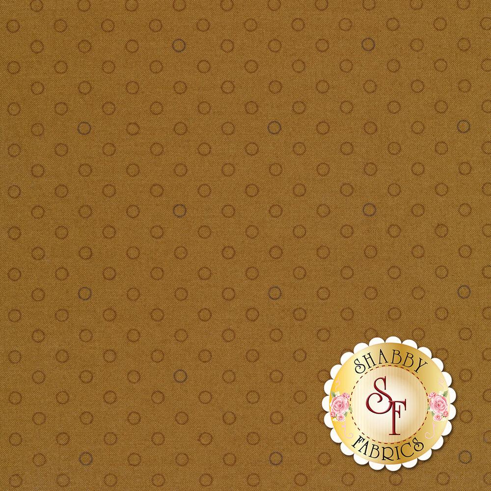 A mustard, basic tonal polka dot fabric | Shabby Fabrics