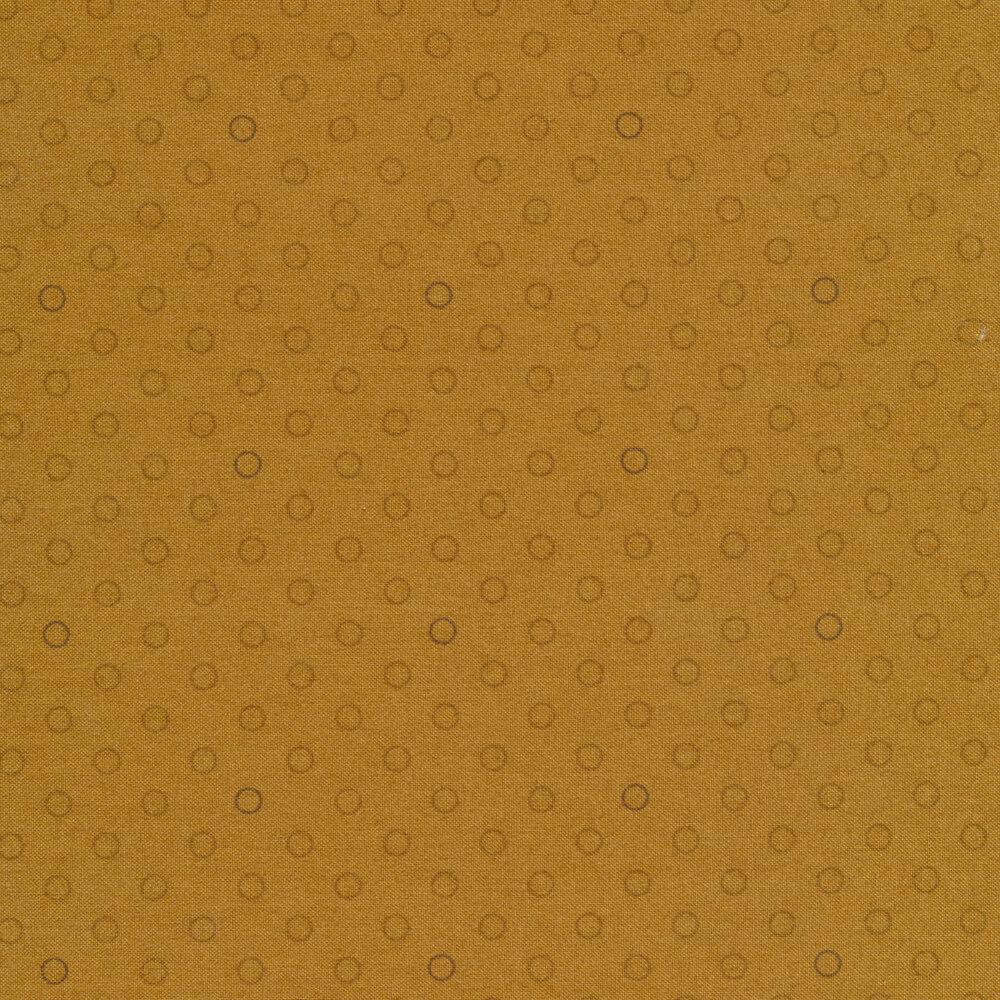 A basic tan polka dot fabric with tonal rings | Shabby Fabrics