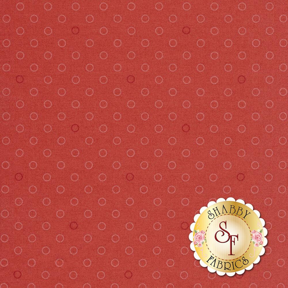 A basic pink polka dot fabric with tonal rings | Shabby Fabrics