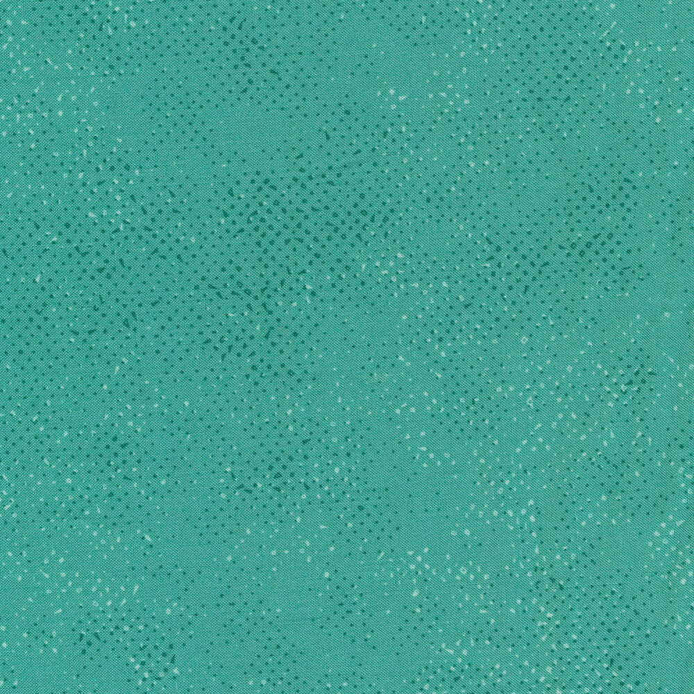 Aqua fabric with tonal spots and texture | Shabby Fabrics