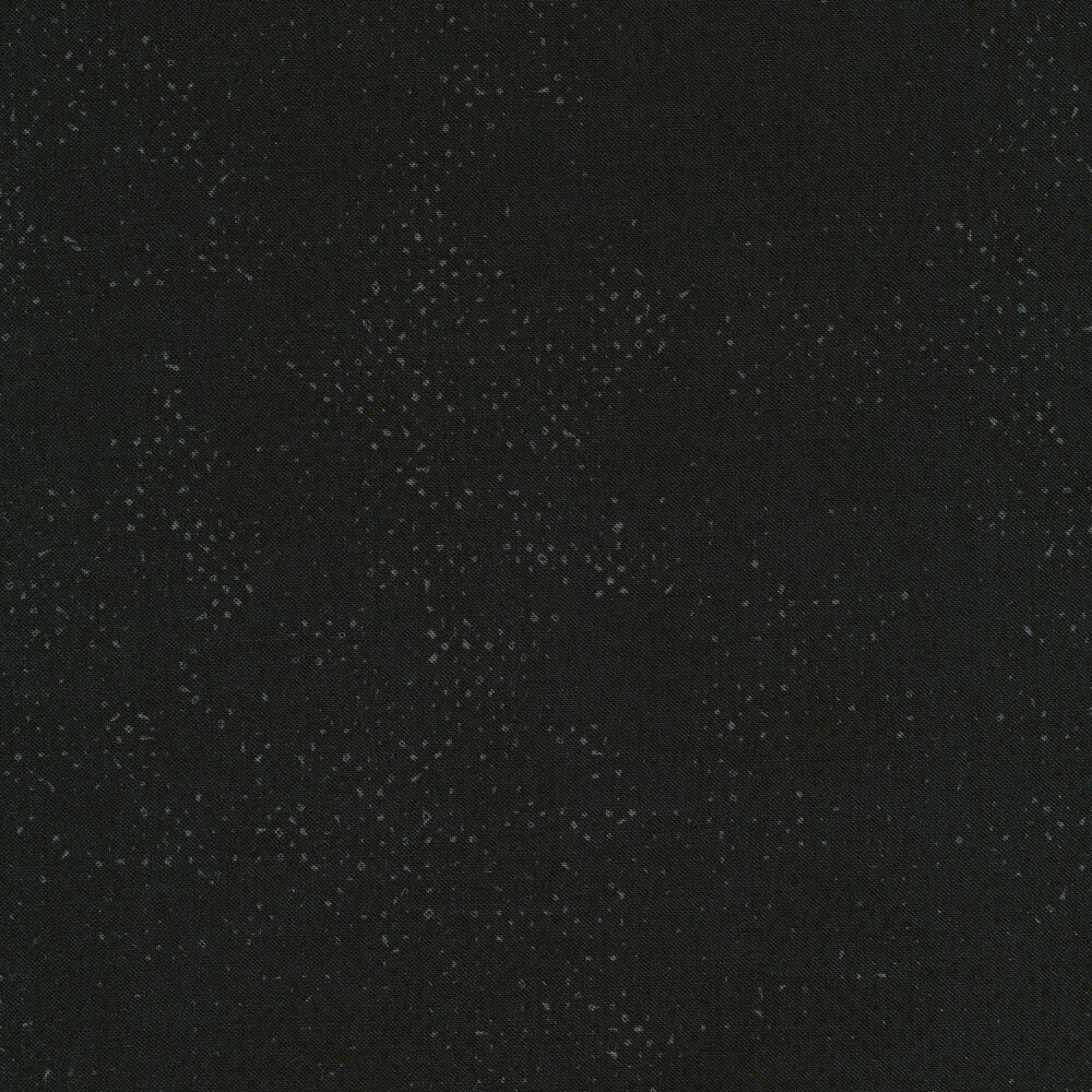 Jet black fabric with charcoal textured spots all over | Shabby Fabrics