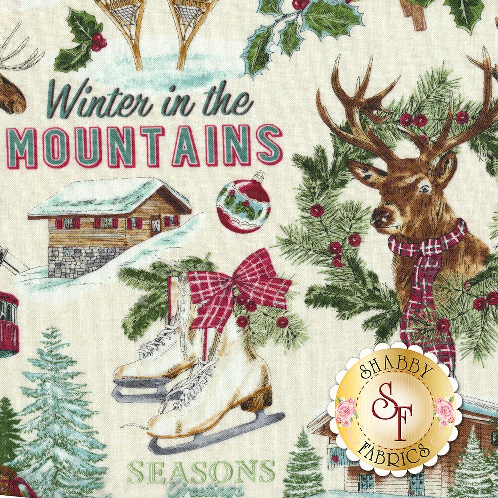 Spruce Mountain 22227-11 Cream by Northcott Fabrics