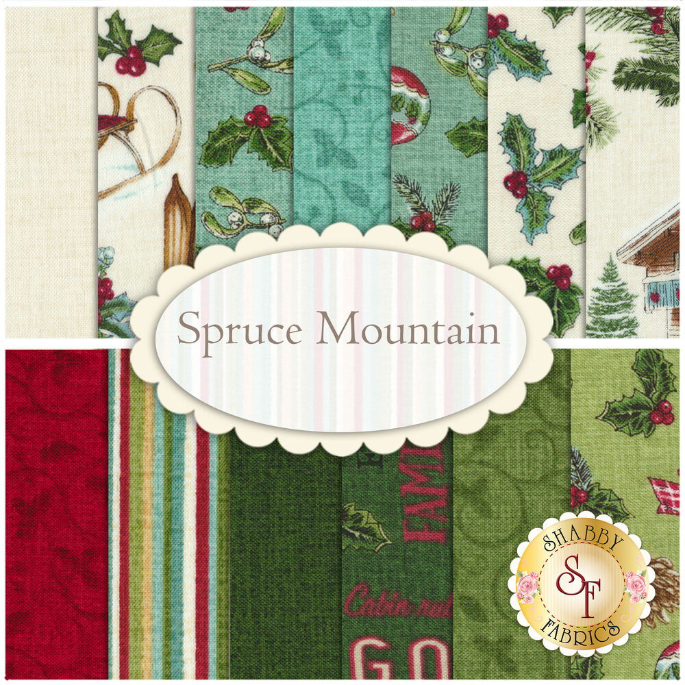 Spruce Mountain  13 FQ Set by Northcott Fabrics
