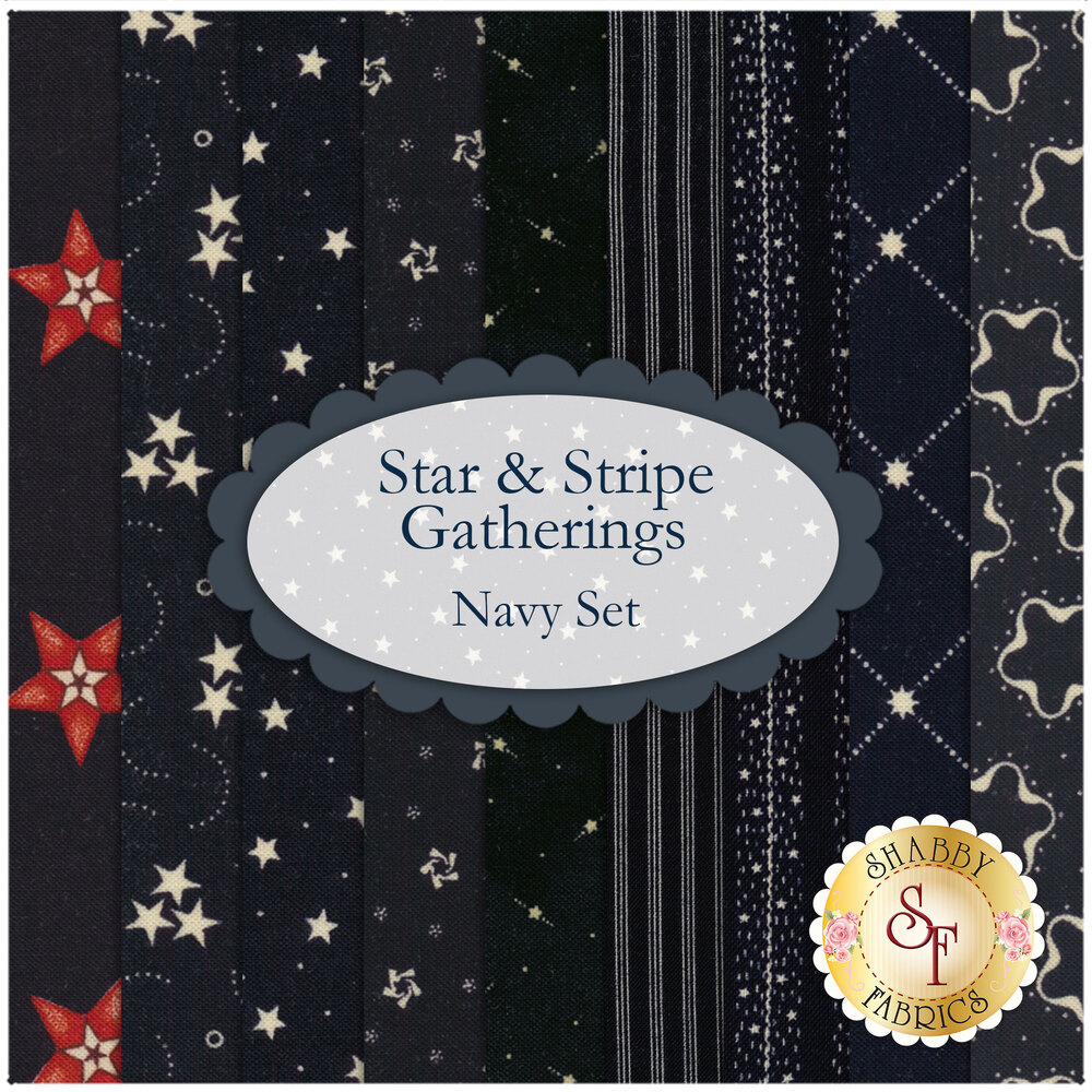 Star & Stripe  9 FQ Set - Navy by Primitive Gatherings