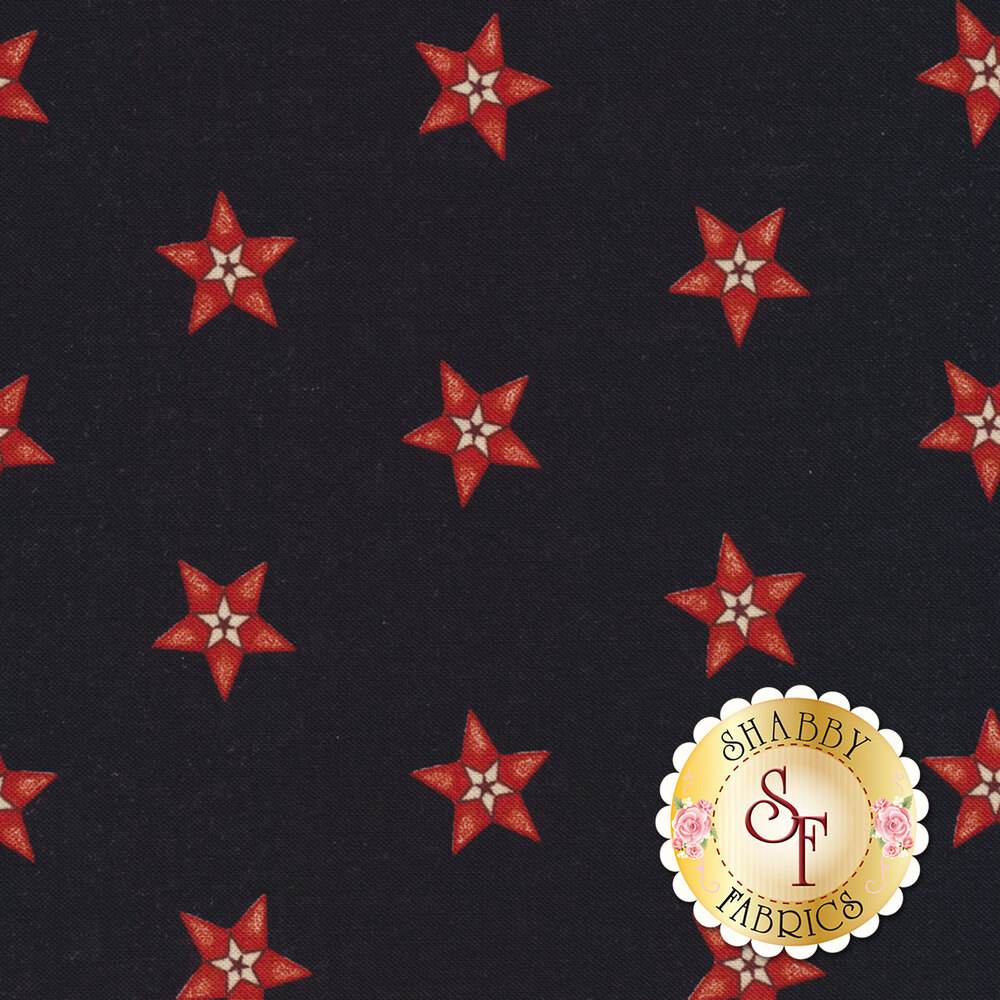 Star & Stripe Gatherings 1260-16 Star In A Star Dark Blue for Moda Fabrics