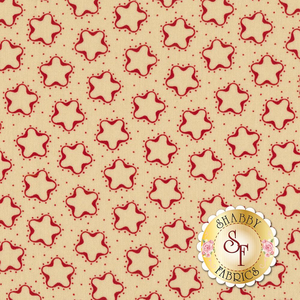 Star & Stripe Gatherings 1263-13 Cookie Cutter Star Tan for Moda Fabrics