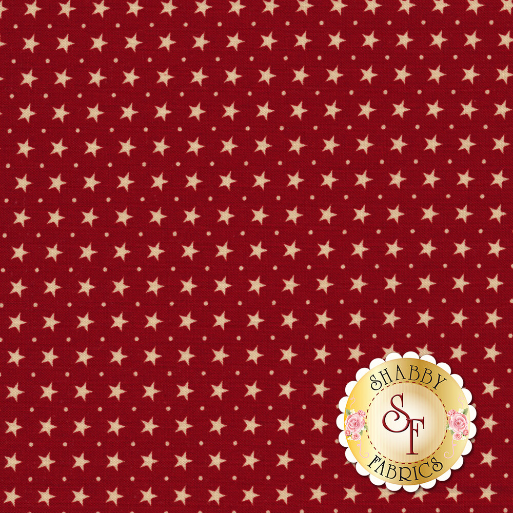 Star & Stripe Gatherings 1267-15 Border Stars Red for Moda Fabrics