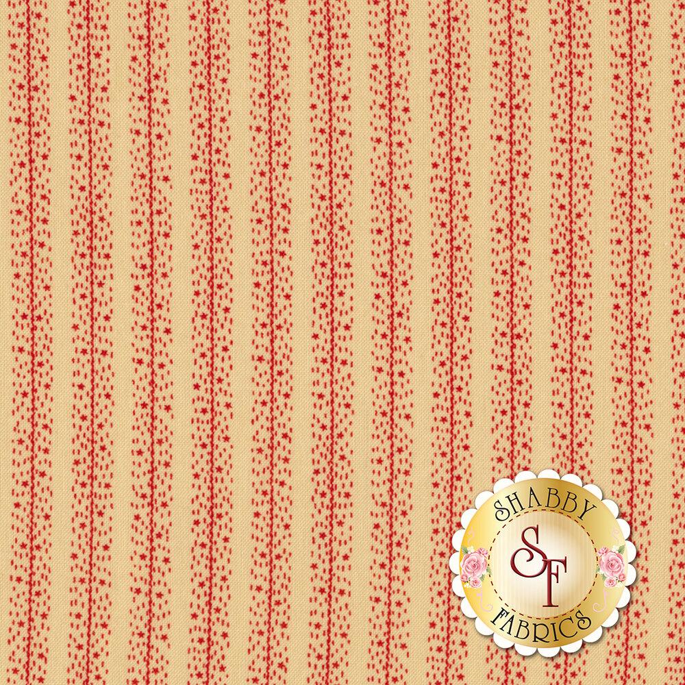 Star & Stripe Gatherings 1268-13 Stars Stripes Tan for Moda Fabrics