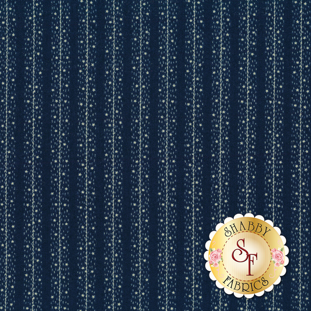 Star & Stripe Gatherings 1268-17 Stars Stripes Dark Blue for Moda Fabrics