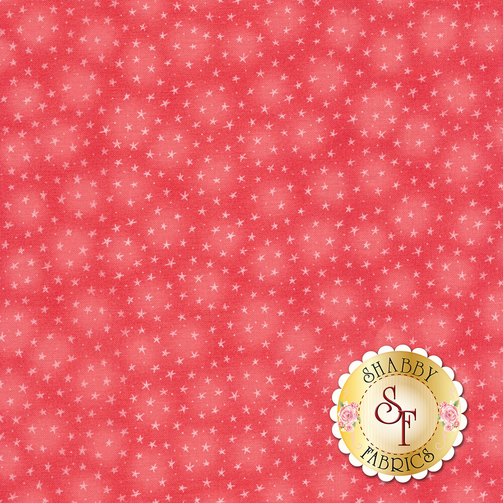 Starlet 6383-Coral by Blank Quilting Fabrics