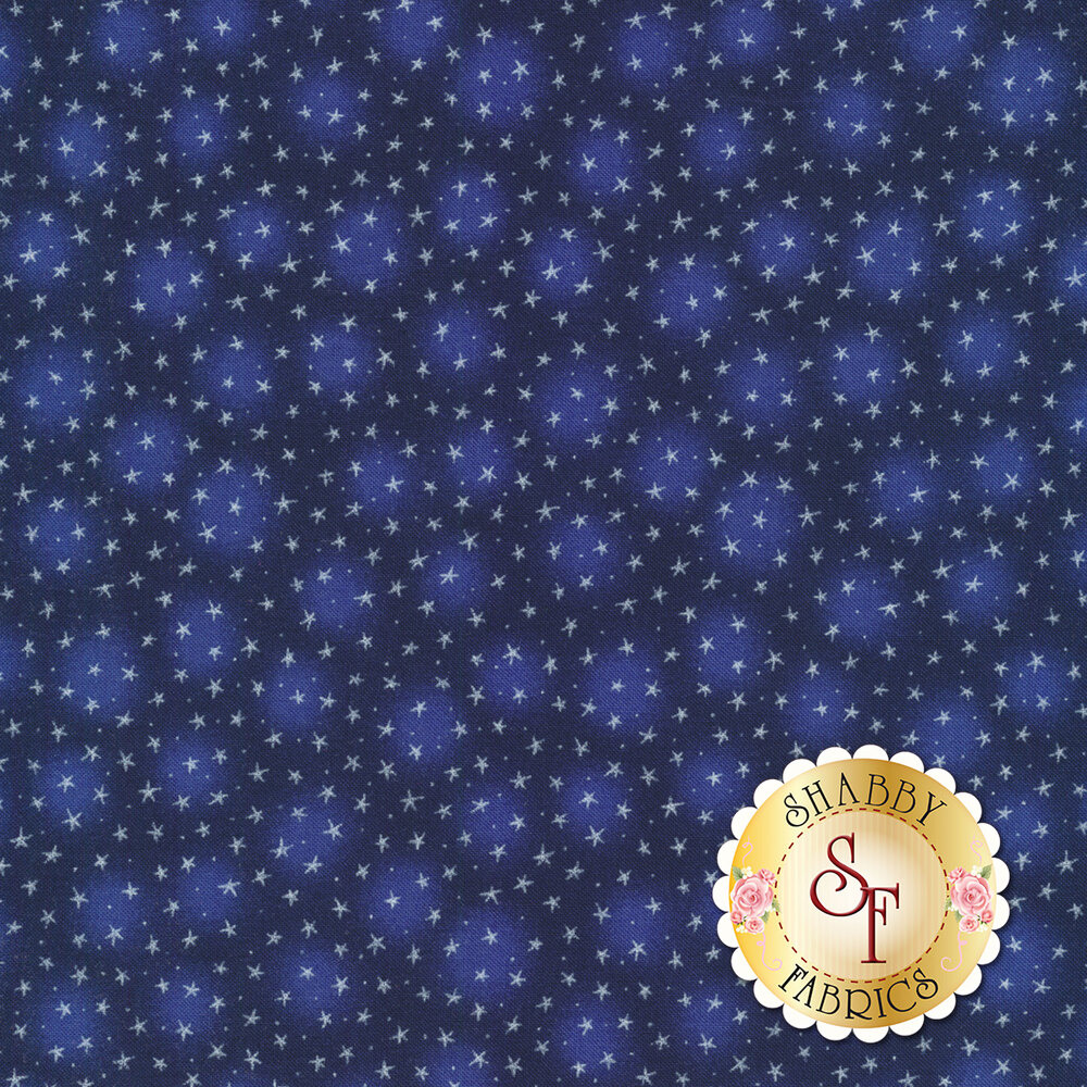 Starlet 6383-Navy by Blank Quilting Fabrics