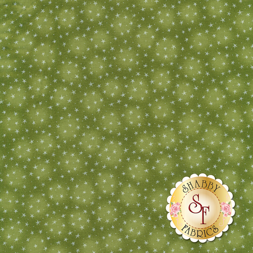 Starlet 6383-Olive by Blank Quilting Fabrics