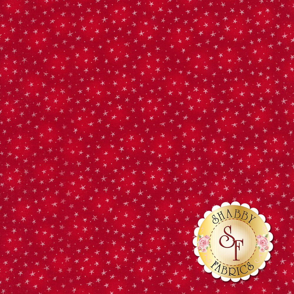 Starlet 6383-Red by Blank Quilting Fabrics