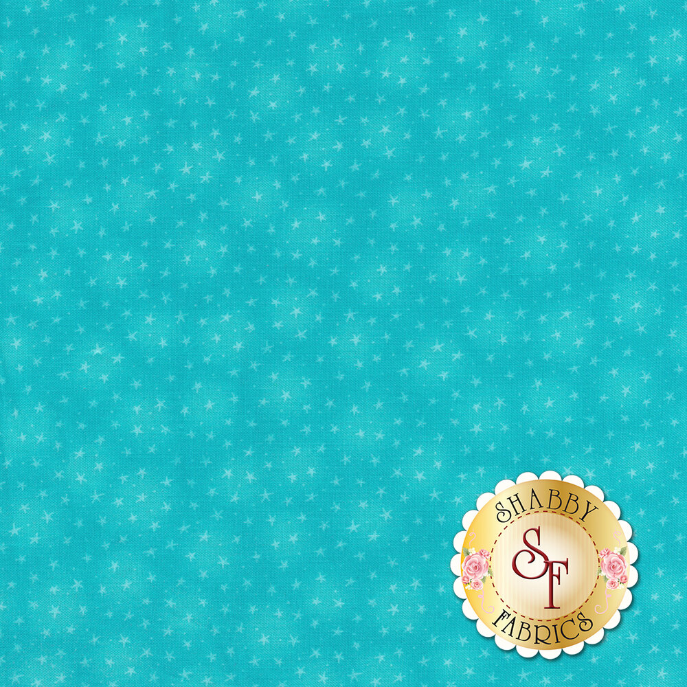 Starlet 6383-Turquoise by Blank Quilting Fabrics