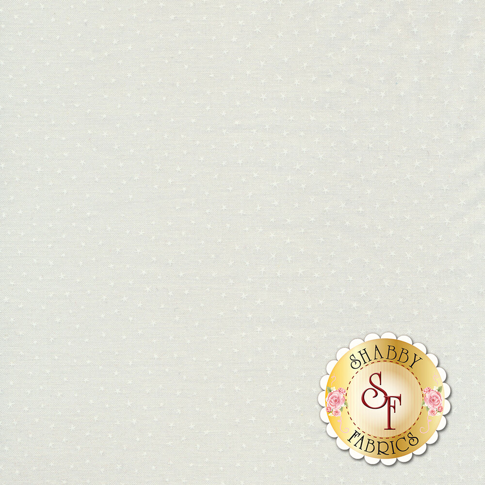 Starlet 6383-White and White by Blank Quilting Fabrics
