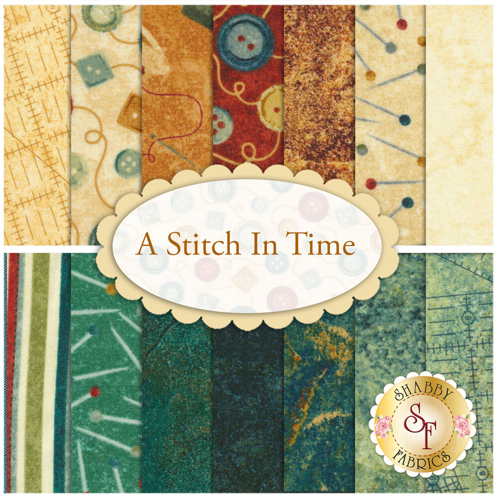 A Stitch In Time  14 FQ Set by Northcott Fabrics