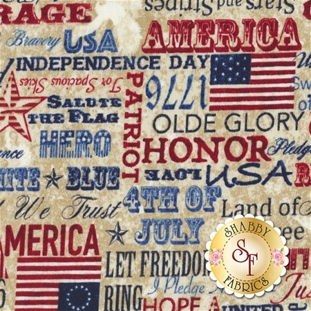 Stonehenge Old Glory 39341-12 by Northcott Fabrics