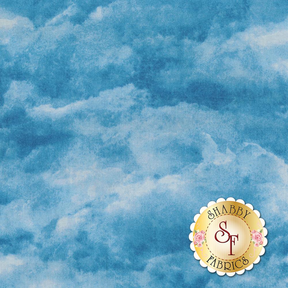 Tonal blue cloud fabric | Shabby Fabrics