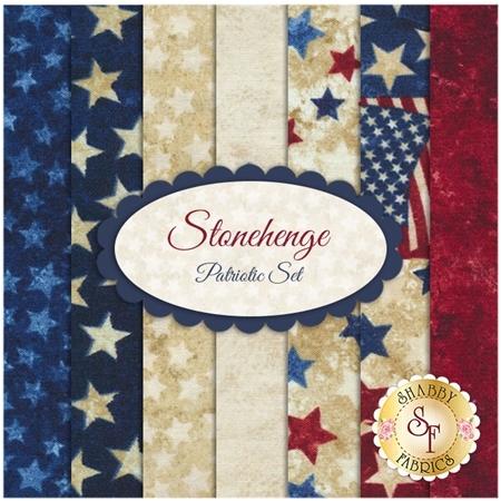 Stonehenge   7 FQ Set - Patriotic Set by Linda Ludovico & Deborah Edwards for Northcott Fabrics