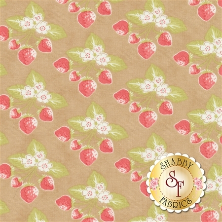 Strawberry Fields Revisited 20264-17 Sand by Fig Tree Quilts for Moda Fabrics