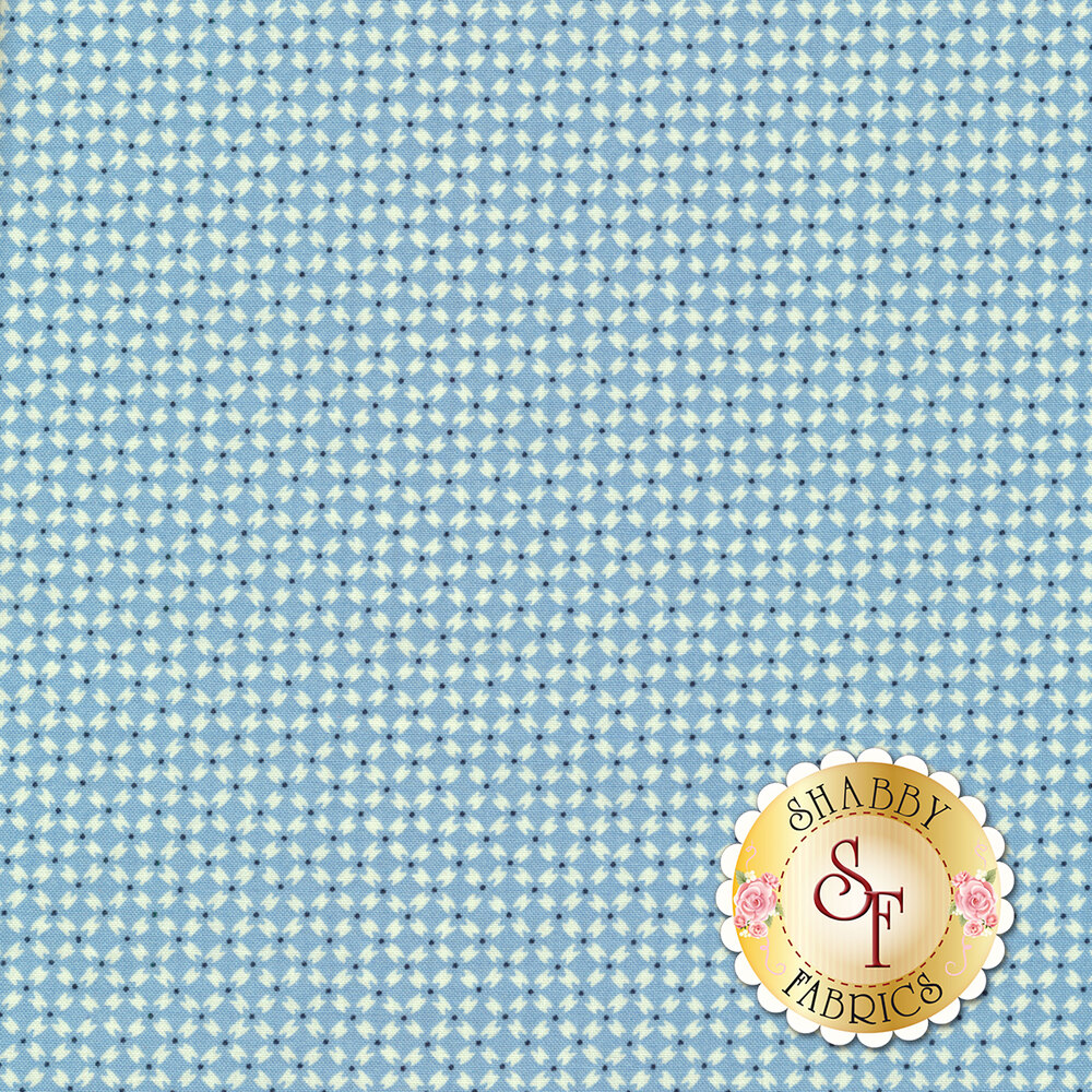 Small light blue diamonds | Shabby Fabrics