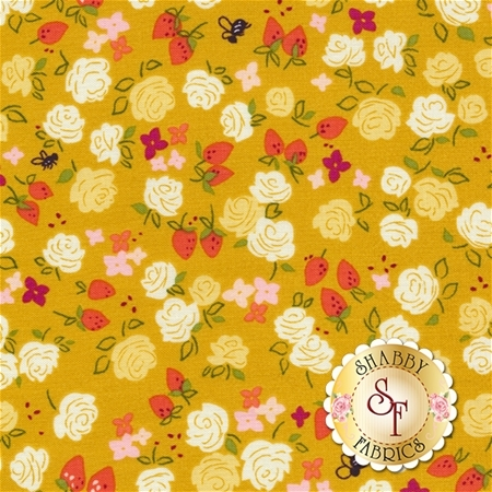 Strawberry Moon DC7308-HONE-D by Sandi Henderson for Michael Miller Fabrics