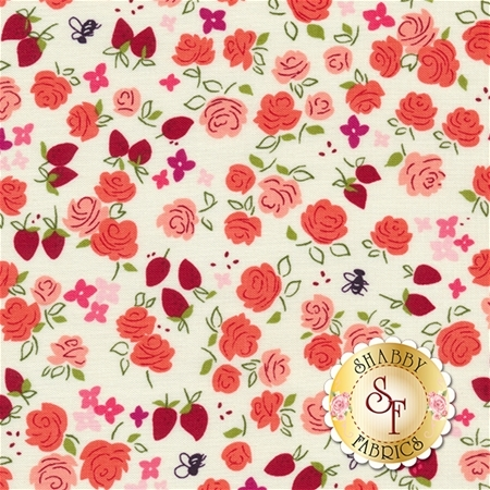 Strawberry Moon DC7308-STRW-D by Sandi Henderson for Michael Miller Fabrics