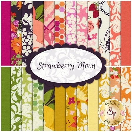 Strawberry Moon  24 FQ Set by Sandi Henderson for Michael Miller Fabrics