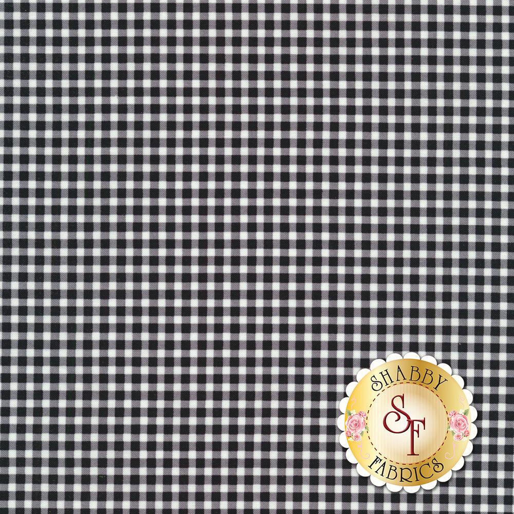 A classic black and white gingham fabric | Shabby Fabrics