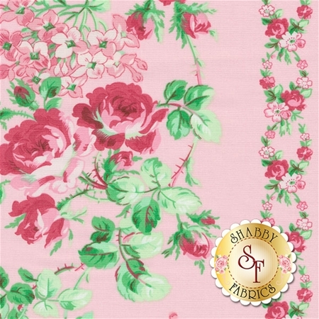 Sugar Bloom PWVM158-PNK by Verna Mosquera for Free Spirit Fabrics