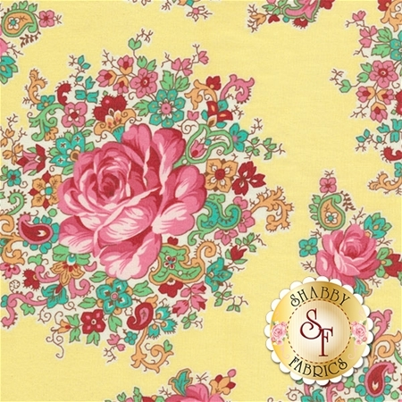 Sugar Bloom PWVM159-PINE by Verna Mosquera for Free Spirit Fabrics