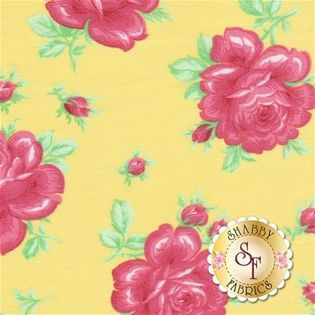 Sugar Bloom PWVM160-PINE by Verna Mosquera for Free Spirit Fabrics