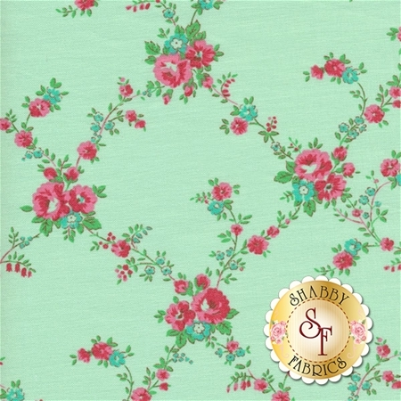 Sugar Bloom PWVM161-PISTA by Verna Mosquera for Free Spirit Fabrics