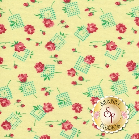 Sugar Bloom PWVM163-PINE by Verna Mosquera for Free Spirit Fabrics